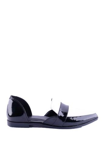 FairyBerry black and white Jocker Loafers FA692SH25MLYID_1