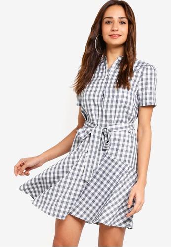 ZALORA black and white Dropped Waist Dress EB907AA1341F27GS_1