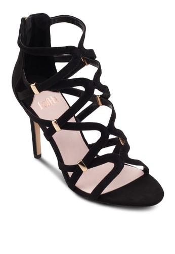 交叉網狀高跟鞋, 女鞋,zalora 衣服評價 鞋