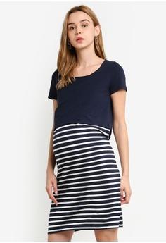 Mama.licious navy Maternity Lea Organic June Dress 4947AAA5090966GS 1 b983b0813