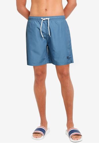 !Solid blue Basic Swim Shorts 7D727US5D08202GS_1