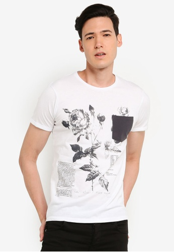 "OVS 白色 Men's """"La-France"""" T恤 47D31AA58BC9D3GS_1"