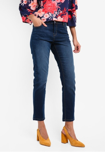 Dorothy Perkins blue Washed Indigo Ashley Straight Jeans DO816AA0SKTOMY_1