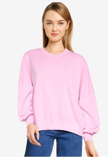 Cotton On pink Harper Boxy Graphic Crew Sweatshirt 167EEAA7984F27GS_1