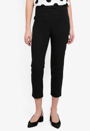 Dorothy Perkins black Short Black Straight Trousers DF8C4AAE1639A3GS_1