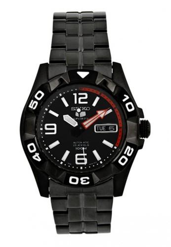 Seiko black Jam Tangan Pria Seiko 5 Original Garansi Resmi Strap Stainless Steel Black SNZJ01 SNZJ01K1 Black SE382AC56UCHID_1