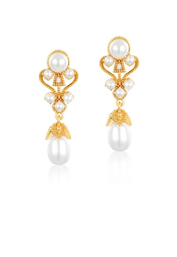 SUNSET gold Premium 925 Sliver Pearl Earring E3500ACE74501AGS_1