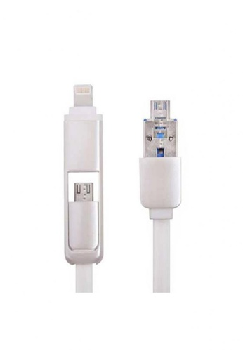 Latest Gadget white 2 in 1 K87 Multifunction Charging Cable with OTG CC9E0AC9144602GS_1