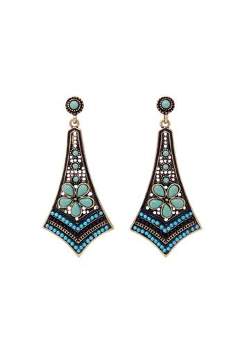 Jaysa Collection green Kite Earrings with Celadon Beads JA875AC0EZFNSG_1