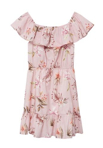 MANGO KIDS pink Floral Print Dress 18853KAC2AF3D0GS_1