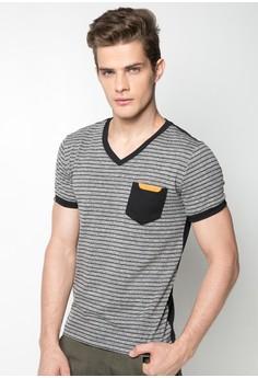 Stripes V-neck Shirt
