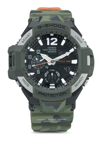 Casio green Casio G-Shock Watch GA-1100SC-3ADR D6947AC3CCC320GS_1