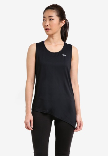 Running Bare black Tie Side Workout Tank 5C216AA87B9F54GS_1