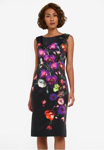 Wallis black Black Floral Print Shift Dress WA800AA0RZHOMY_1
