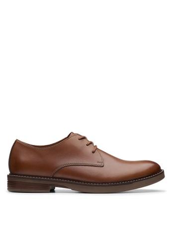 Clarks CLARKS Paulson Plain Tan Leather Mens Casual Shoes 5D68BSH372C298GS_1