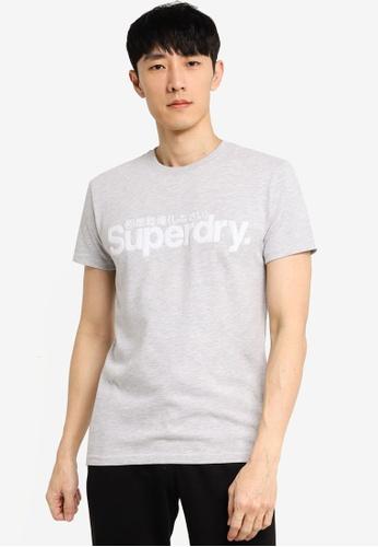 SUPERDRY grey Core Faux Suede Tee 899ADAA8732EC9GS_1