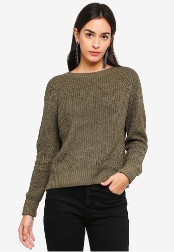 Vero Moda green Abo Long Sleeve Knit Top 0E60CAA12D372EGS_1