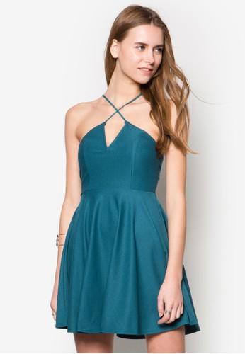交叉細帶連身裙zalora 內衣, 服飾, 洋裝