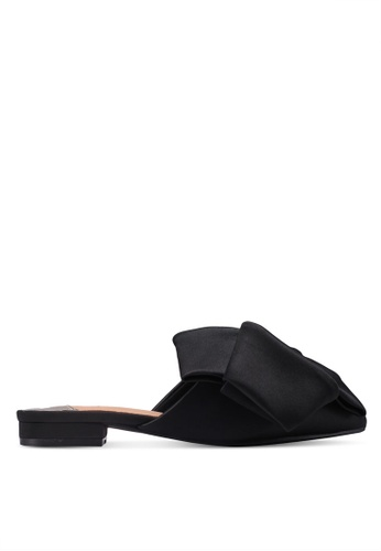Something Borrowed black Oversized Ribbon Flats 82725SH7732134GS_1