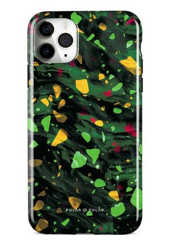 Polar Polar green Malachite Terrazzo Gem Dual-Layer Tough Case Glossy For iPhone 11 Pro Max EF189AC0438E27GS_1
