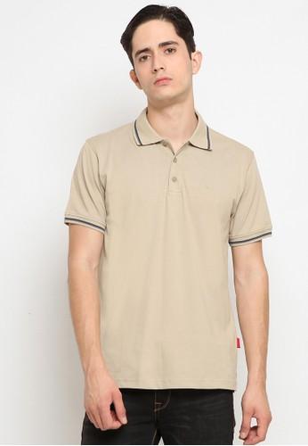 Police Denim beige Comfort Polo Shirt 634C3AA789A6FFGS_1