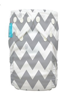 Grey Chevron 2-in-1 cloth baby diaper