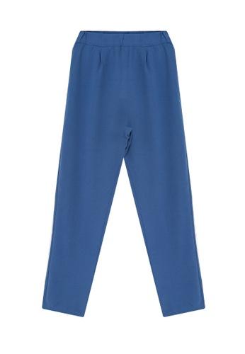 LC Waikiki blue Elastic Waist Co-ord Trousers E1621AAAF939B7GS_1