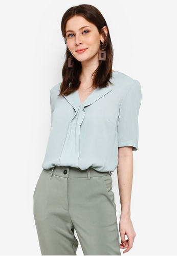 FORCAST green Christine V-Neck Blouse 97D87AA9548DB8GS_1