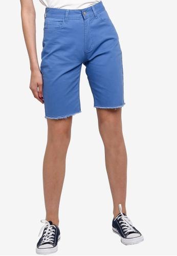 Something Borrowed 藍色 百慕達丹寧 短褲 690FEAAD0DF5EEGS_1
