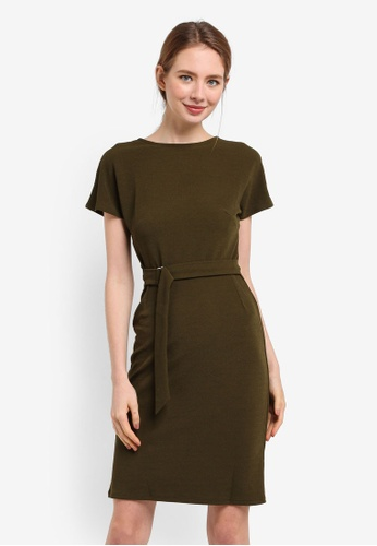 Dorothy Perkins green Olive D-Ring Wrap Dress 63D95AA1E527DBGS_1