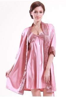 987e25e486 2 in 1 Robe + Dress Pyjamas Lingerie Set L7021 0CBE6AA082C021GS 1 SMROCCO 2  in 1 Robe + Dress Pyjamas Lingerie Set L7021 RM 199.00 · Silk Long Sleeve  ...
