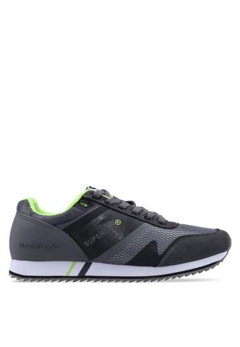 Superdry grey Fero Runner Trainers 888A5SH3EF4013GS_1