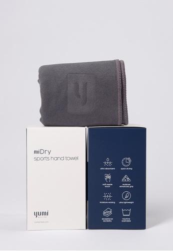 Yumi Active grey Yumi Active miDry Sports Hand Towel (Titanium Grey) D3F96AC07FFA4BGS_1