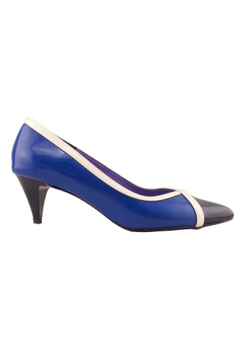 Flatss & Heelss by Rad Russel blue Two Toned Colored Heels- Navy FL655SH0GHBZSG_1