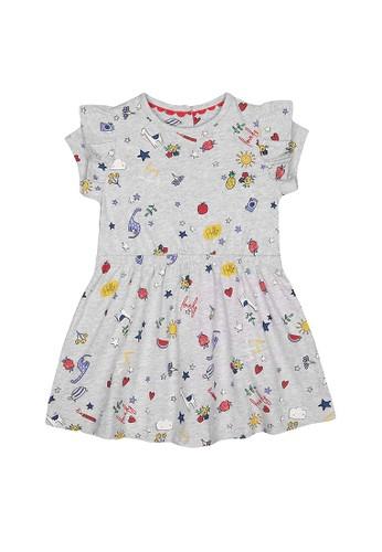 Mothercare multi Mothercare - grey printed dress FE2F9KA3930510GS_1