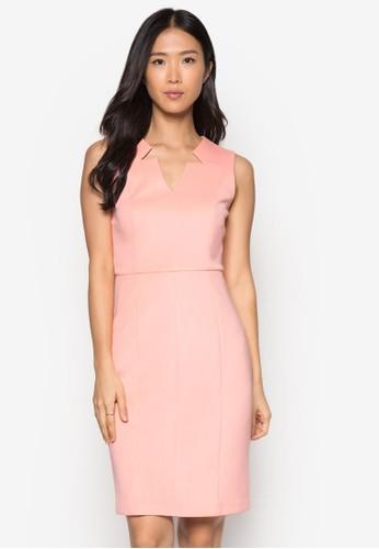 Collection V 領無袖zalora 評價連身裙, 服飾, 正式洋裝