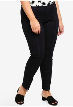 b1fb5ea998f Junarose navy Plus Size Queen Dark Blue Ankle Split Hem Jeans  722C0AA136E027GS 1
