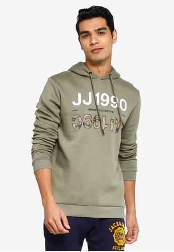 Jack & Jones green Art Sweat Hood Sweatshirt FD6E8AA8B82D24GS_1