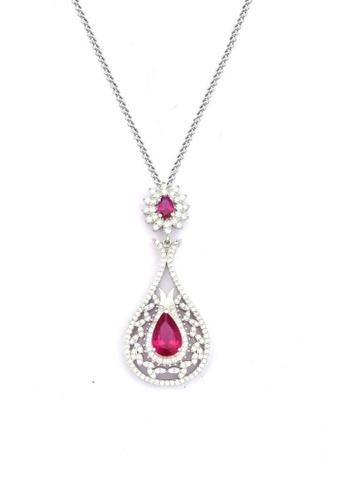 ADORA Silver Dangle Pendent Necklace AD365AC2VMP4HK_1
