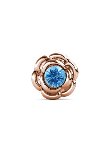 Her Jewellery gold Petunia Brooch (March, Rose Gold) - Made with Premium grade crystals from Austria A7D12ACF250A40GS_1