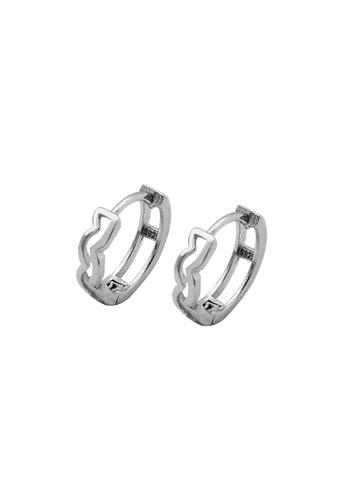 LYCKA silver LDR1259 S925 Silver Wave Pattern Stud Earrings 24360ACCBE5B45GS_1