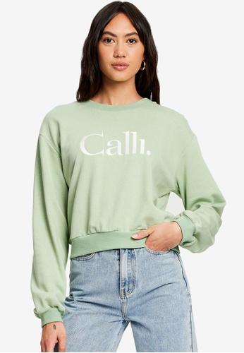 Calli 綠色 Classic Pullover Jumper 0912DAA96710F4GS_1