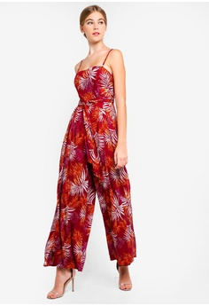 e7ff841aa500 5% OFF INDIKAH Botanical Print Jumpsuit With Waist Sash RM 295.00 NOW RM  279.90 Sizes 8
