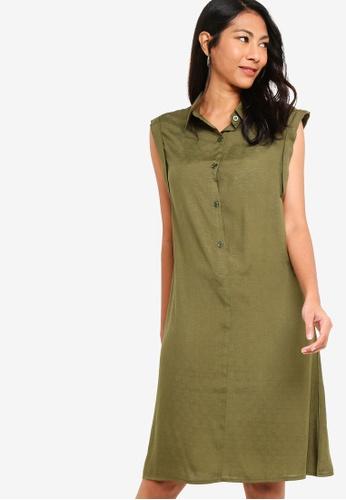 ZALORA BASICS green Basic Sleeveless Long Dress B8244AA103C6E1GS_1