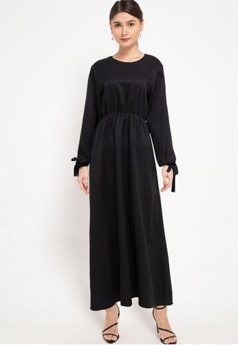 Zumara black Sleeves Rope Gamis Dress C0B9BAABD2E26BGS_1