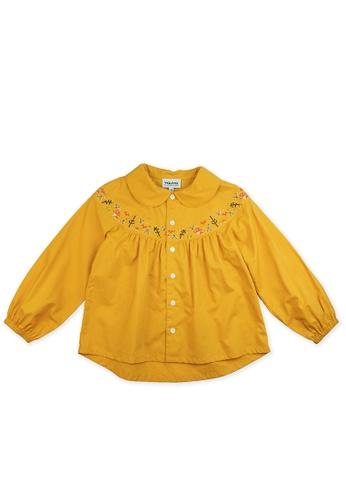 Vauva yellow Vauva Girls Fantasy Forest Casual Shirt - Yellow BDDC5KABB468B7GS_1