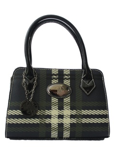 304f550a571 Santa Barbara Polo   Racquet Club black and green Carey Series Shopper Bag  SA244AC17GYSPH 1