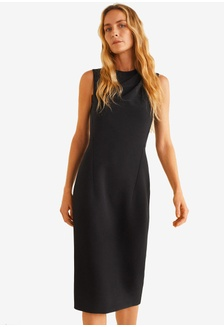 17f289636ee Pleated Shoulder Dress 7BAB2AA47DC43EGS 1