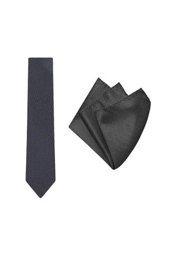 Buckle black Micro Spot Tie with Pocket Hanky E2F1EAC3E49FE4GS_1