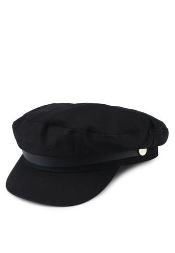 River Island black Black Cotton Twill Baker Boy Cap BE6FFACAE3DE79GS 1 d354206f4ea